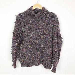 Patrizia Luca Boucle Turtleneck Sweater Size M